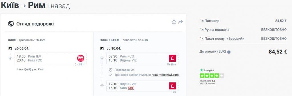 Київ - Рим - Київ 06.04 - 10.04