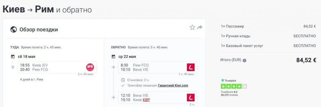 Київ - Рим - Київ 18.05-22.05