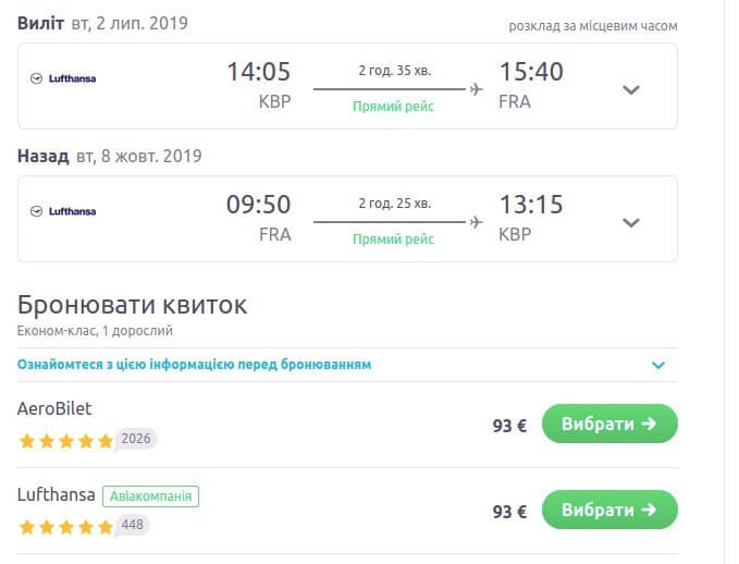 Київ – Франкфурт