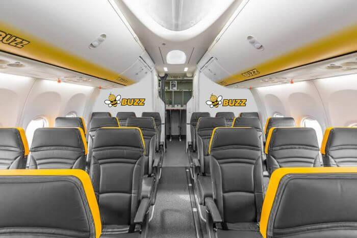 Buzz салон літака